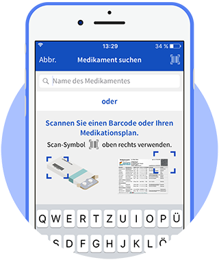 Medikamenten Barcode Scanner in der App
