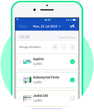 Track your medication intakes