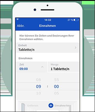 Einnahmeplan in der App festlegen