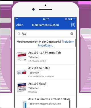 Medikamente in der App suchen