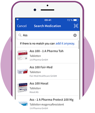 Search Medication in Database in App
