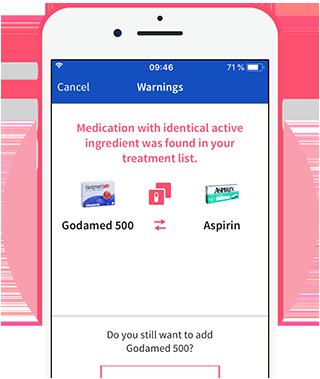 Patient information leaflet within Mediteo app